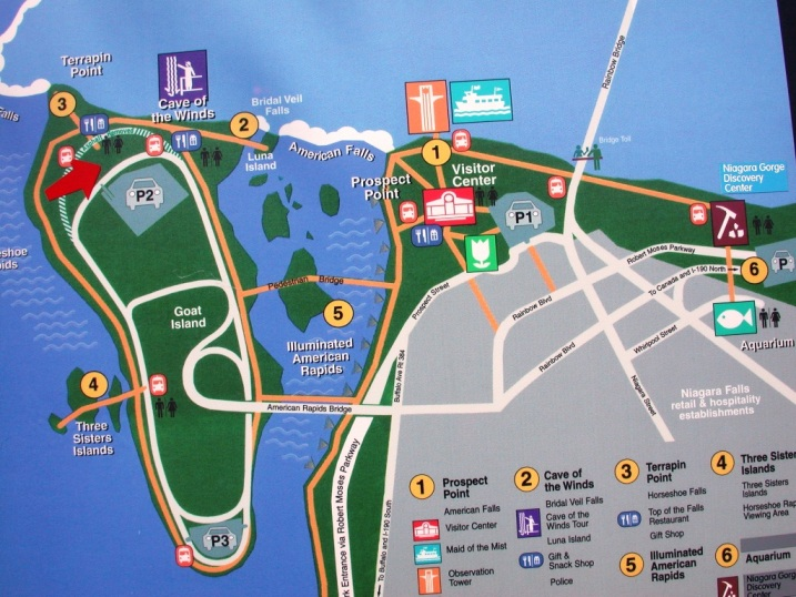 Niagara Falls State Park Map New York   2004 Niagara Falls State Park Map